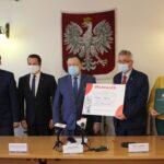 W spotkaniu wzięli udział wiceprzewodniczący sejmiku województwa Adam Orliński i Marcin Podsędek oraz skarbnik Gminy Teresin Agnieszka Rosa