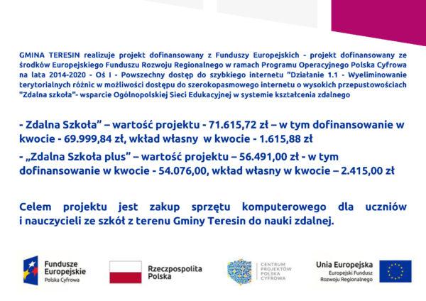 Plakat programu Zdalna Szkoła