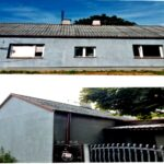 Dom z eternitem na dachu