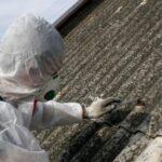 Fotografia poglądowa - usuwanie azbestu z dachu.