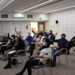 XXXII sesja Rady Gminy Teresin - głosowanie nad jedną z uchwał