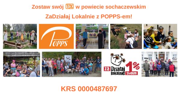 Plakat 1% dla POPPS