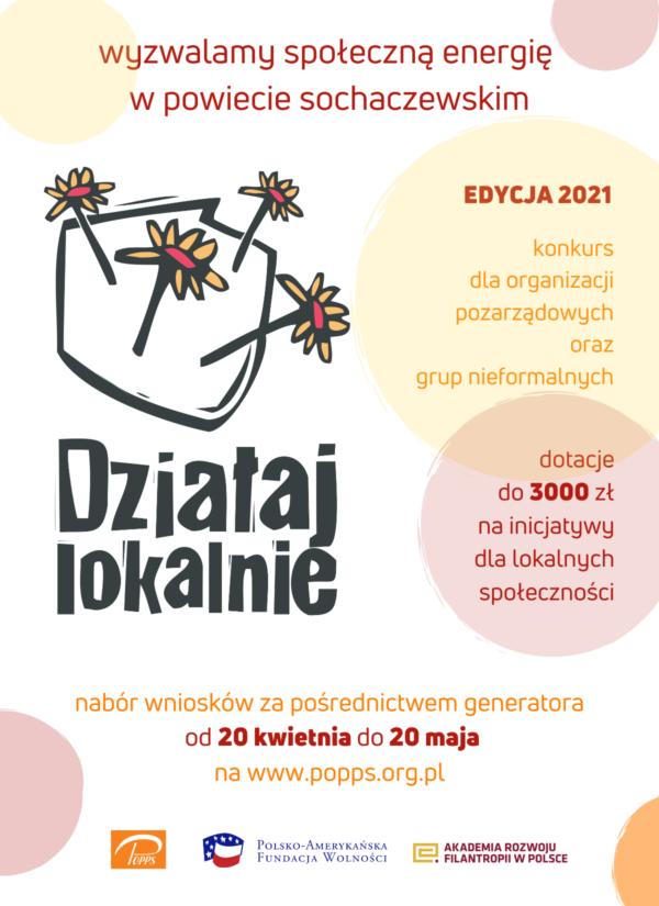 Plakat Działaj Lokalnie 2021