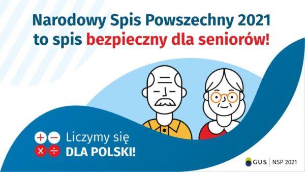 Plakat Spis bezpieczny dla seniorow