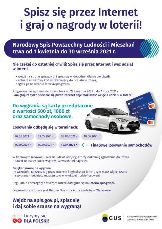 Plakat Loterii NSP 2021