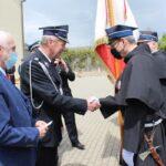 Podczas uroczystości złoty medal za zasługi dla pożarnictwa odebrał dh Marek Gąsiorowski z jednostki OSP w Niepokalanowie