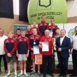 Reprezentanci LKS Mazowsze Teresin podczas Mistrzostw Krajowego Zrzeszenia LZS Młodzików (U14)