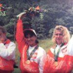 Brązowe medalistki Igrzysk Olimpijskich Atlanta 1996 - Joanną Nowicka, Iwona Marcinkiewicz i Katarzyna Klata