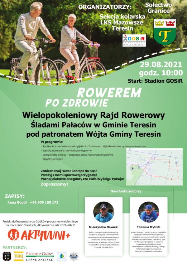 Plakat Rowerem po Zdrowie
