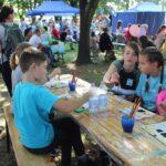 Dzieci chętnie uczestniczyły w konkursie plastycznym.