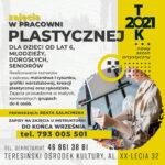 Plakat - zajęcia w pracowni plastycznej