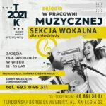 Plakat - zajęcia wokalne (Joanna Cieśniewska)