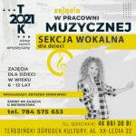 Plakat - zajęcia wokalne (Zbyszek Murawski)